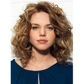 Charming Long Curly Lace Front Human Hair Wig 12 Inches