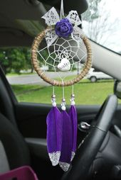 Long Distance Sister Gift, Christmas Gift for Sister, Car Dream Catcher, Unique Gift, Moving Away, Half, Step
