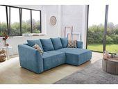 Jockenhöfer Group Ecksofa, mit Bettfunktion, blau, blau   – Products
