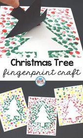 Weihnachtsbaum Thumbprint Art