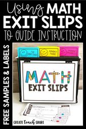 Utilizing Math Exit Slips to Information Instruction – Create Educate Share