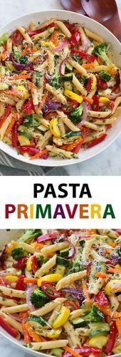 Pasta Primavera – Dies ist ein herzhaftes, vegetarisches Pastagericht, das perfe… – Sommer-Rezepte