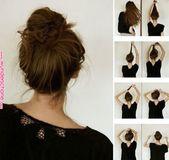 Eine kleine Veränderung in meinem unordentlichen Brötchen;)   Frisuren   Lange Frisuren, Haare, Frisuren Eine kleine Veränderung in meinem chaotischen Brötchen;)   Frisuren   Lange ha ...