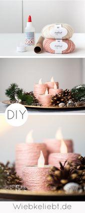 Adventskranz aus Klopapierrollen basteln – DIY Weihnachten | DIY Blog | Do-it-yourself Anleitungen zum Selbermachen | Wiebkeliebt