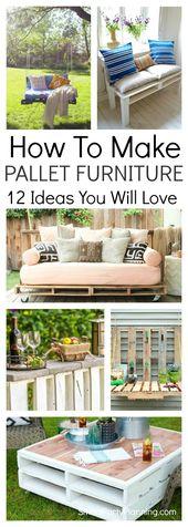 Apprenez à créer d'impressionnantes idées de mobilier pour palettes avec ces étapes simples …  – Pallet inspired