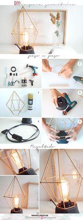 DIY Deco | Lámpara geométrica | Geometric lamp