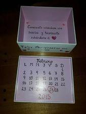 caja regalo aniversario san valentín rectangular artesanal