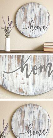 83+ Inspirational für rustikale Wohnzimmer Wand Dekor Design – #Decor #Design #F