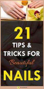 25 einfache und natürliche Nagelpflege Tipps und Tricks zum Ausprobieren zu Hause   – Hair & Beauty