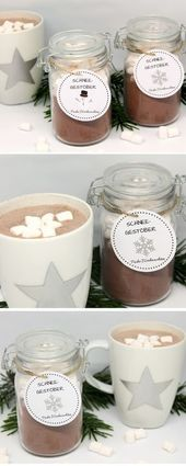 DIY snow flurry / cute Christmas gift + free template