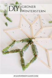 DIY – grüner Winterstern mit Vorlage