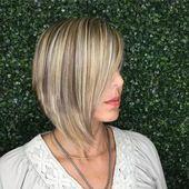 Damen, Mittellange Frisuren: 2019, Modelle | Einfaches und unkompliziertes Frisieren   – Coiffure cheveux mi long