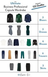 Business Professional Capsule Wardrobe The goal: C…