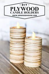 21 Crafty DIY Kerzenhalter Ideen zur Verschönerung Ihres Zimmers Wood Crafts Cr…