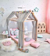 Ein Raum, perfekt für einfallsreiches Spielen bei @my_fantasyroom ☺️❤️ – İlyada Kıras – Dekoration – Kinderzimmer Ideen