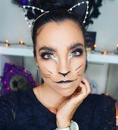 21 simple cat makeup ideas for Halloween