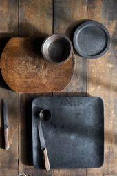 tons chauds de brun et noir / anthracite – un …