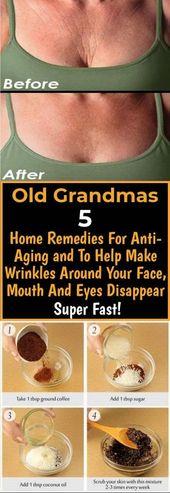 Old Grandmas 5 Home Remedies für AntiAging und um Falten rund um Gesicht, Mund und Augen verschwinden zu lassen Super Fast – Make Up Tipps – anti aging tips home remedies