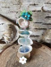 OOAK handgemachte Miniatur Brunnen, Fairy Garden Brunnen, Dollhouse Zubehör, Miniatur Shell Faer als Favoriten markiert haben – Etsy