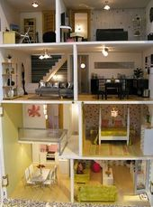 Dollhouses Interiors, schöne Dollhouses, coole Häuser, coole Puppenhäuser, Mini …