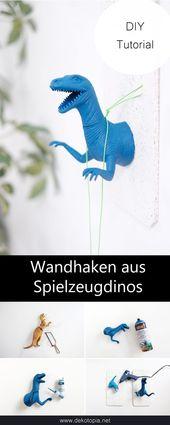 Dino Wandhaken selber machen – dekotopiaDino Wandhaken | dekotopia