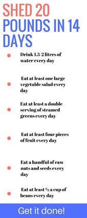 12 Möglichkeiten, 20 Pfund in 14 Tagen zu verlieren. Gewichtsverlust | abnehmen | dünn | verlieren …   – Nia