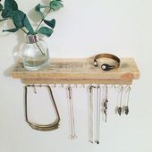Hanging Jewelry Organizer | Diy Necklace Organizer | Jewellery Stand Sale 201909…, #diy #H…