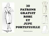COUDRE UNE JUPE OU ROBE PORTEFEUILLE AVEC 30 PATRONS GRATUITS
