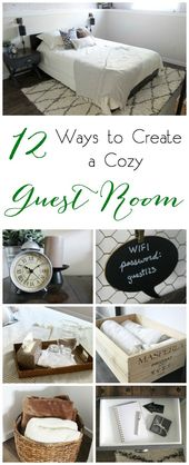 12 Ways to Create a Cozy Guest Room 12 great tips …