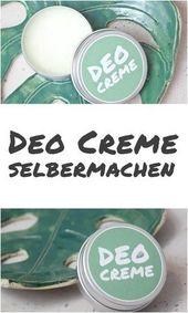 Make {DIY} deodorant cream yourself