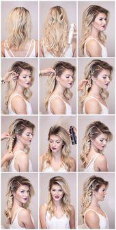 eine Anleitung für Dirndl Frisur wie mit Haarsprays und Flechten, das Haar zu f… – Frisuren