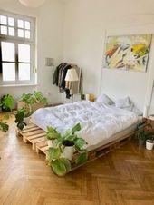 Aus Paletten kann man einfach alles bauen. Regale, Tische, Betten… Dieses #Pal… – Die schönsten Holzmöbel zum selber bauen!