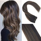 Sunny 20inch Highlighted Remy Hair Extensions Clip…
