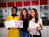 Studenten & # 39; Abschlussprüfung unserer Make-Up Kurse. Make-up Atelier Schulungszentrum   – Exam 2014