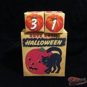 DIGITAL Vintage schwarze Katze Kürbis Countdown zu Halloween Tage Kalenderdatei druckbare INSTANT DOWNLO
