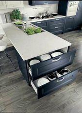 Inspirierende Ideen zur Aufbewahrung in der Küche um Platz zu sparen