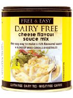 free  easy dairy free cheese flavour sauce mix
