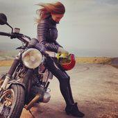 Das perfekte Paar. #Belstaff & #Moto #bikegirl | caferacerpasion.com   – Cafe racer style