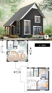 Tiny cabin design plan – #Cabin #cottage #Design #…