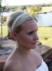 Bandeau de mariée, bandeau de mariage en cristal Swarovski, accessoires pour cheveux de mariée, bandeau de mariage, bandeau Kiara Swarovski
