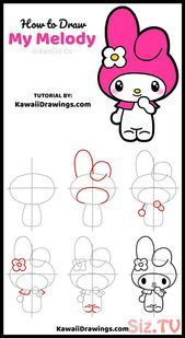 How To Draw My Melody From Sanrio How To Draw My Melody From Sanrio Lizzy Save I Hello Kitty Drawing Kitty Drawing Kawaii Drawings