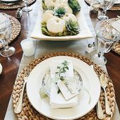 Beautifully Simple Thanksgiving Table Decor and Table Setting Ideas