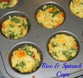 Muffin Tin Rice and Spinach Cups