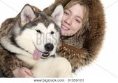 Malamute Puppy With A Girl Poster   – Products – #Girl #Malamute #Poster #Produc…  – Cute Puppies