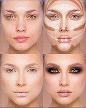 Easy Conture und Hignlight Makeup Tutorial Schritt für Schritt Ideen für Prom … – ♡HAIR&MAKE UP♡