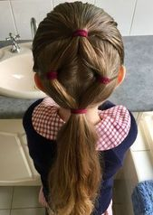 Creative hairstyle idea for kids  latest hairstyles 2018 # hairstyles kids creat…