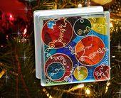Photo of Abstrakte Kunst Glasmalerei Glasblock, reiche Farbe Nachtlicht, strahlende Kreis Kunst Garten Ornament,