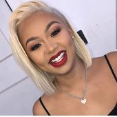 613 Blonde Bob Wig Frontal Lace 100% Virgin Human Hair