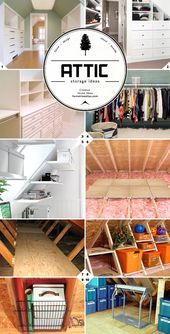 Finished And Unfinished Attic Storage Ideas Home Tree Atlas Attic Storage Organization Attic Storage Attic Remodel