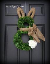 Easter wreath. Easter bunny wreath. by PrivilegedDo …